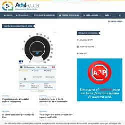 Test de Velocidad de bajada y subida de ADSL Ayuda