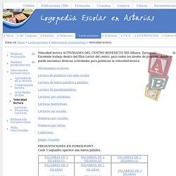 Logopedia Escolar de Asturias - Velocidad lectora