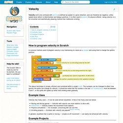 Velocity - Scratch Wiki