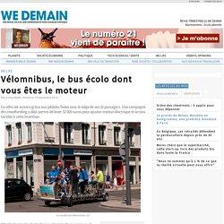 Vélomnibus, le bus écolo dont vous êtes le moteur