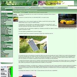 vélomobile électro-solaire autonome qui va partir pour le sun trip Forum Cyclurba.fr. VPH, Vélomobile et vélo couché