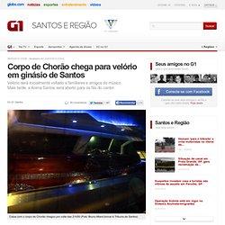 Corpo de Chorão chega para velório em ginásio de Santos - notícias em Santos e Região