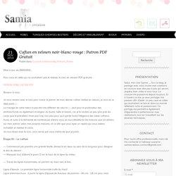 Caftan en velours noir-blanc-rouge : Patron PDF Gratuit