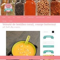 Velouté de lentilles corail, courge butternut et lait de coco