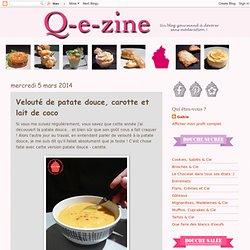 Velouté de patate douce, carotte et lait de coco