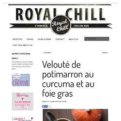 Velouté de potimarron au curcuma et au foie gras