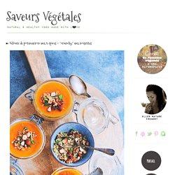 """► Velouté de potimarron aux 5 épices + """"crunchy"""" aux noisettes"""