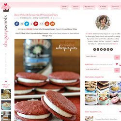 Red Velvet Brownie Whoopie Pies