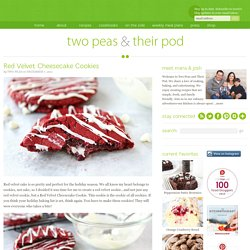 Red Velvet Cheesecake Cookies Recipe | Red Velvet Cookies