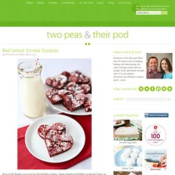 Red Velvet Crinkle Cookies | Red Velvet Cake Mix Cookies | Two Peas & Their Pod - StumbleUpon