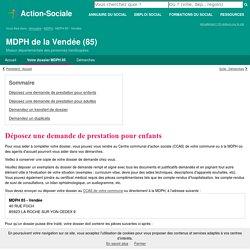 MDPH de la Vendée (85) : Formulaires de demandes