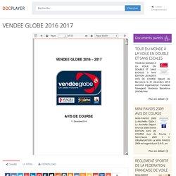 ⭐VENDEE GLOBE 2016 2017