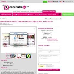 Vendemos Páginas Webs, en Promoción
