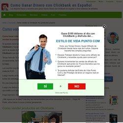 Como vender en Clickbank Tus productos propios
