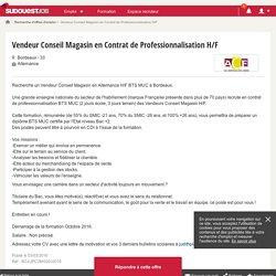 Vendeur Conseil Magasin en Contrat de Professionnalisation H/F - ACF