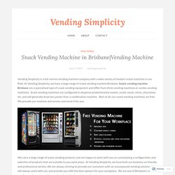 Vending Machine – Vending Simplicity