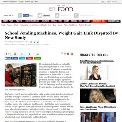 School Vending Machines, Weight Gain Link Disputed By New Study