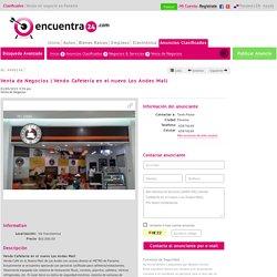 Vendo Cafetería en el nuevo Los Andes Mall