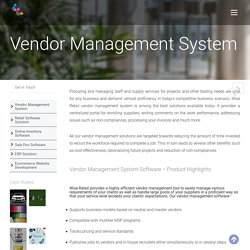 Best Vendor Management System Software – Wise Retail