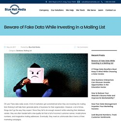 Beware of Fake Data Vendors While Investing in a Mailing List