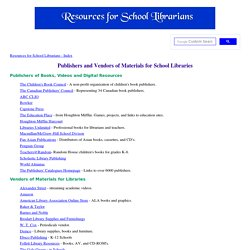 Vendors of Materials for Libraries (SLDirectory)