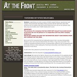 Vendors of WWII Militaria - ATF