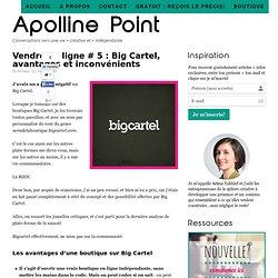Vendre en ligne # 5 : Big Cartel, avantages et inconvénients