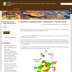Vendredi 11 septembre 2020 : Châtel-Guyon > Puy Mary Cantal