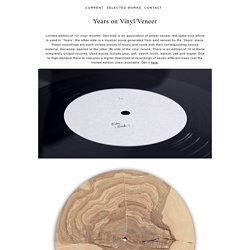 Years on Vinyl/Veneer – Bartholomäus Traubeck