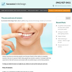 The pros and cons of veneers