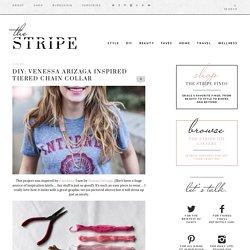 DIY: Venessa Arizaga inspired Tiered Chain Collar - The Stripe