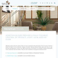 Venetian Blinds For Windows Melbourne, Victoria