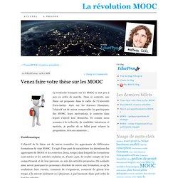 Venez faire votre thèse sur les MOOC