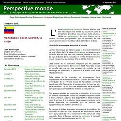 Venezuela : après Chavez, la crise