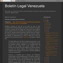 Boletín Legal Venezuela: Nuevas causales para el divorcio