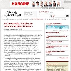 Au Venezuela, victoire du «chavisme sans Chávez», par Maurice Lemoine