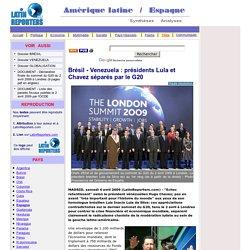 Brésil - Venezuela : présidents Lula et Chavez séparés par le G20