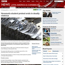 Venezuela student protest ends in deadly violence
