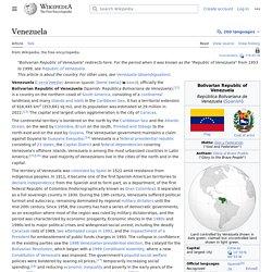 Venezuela - Wikipedia