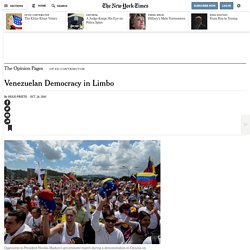 Venezuelan Democracy in Limbo