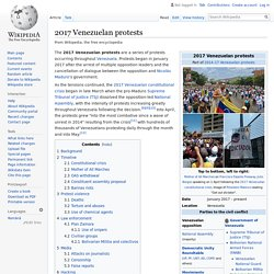 2017 Venezuelan protests - Wikipedia
