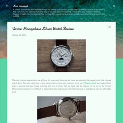 Venice Moonphase Silver Watch Review