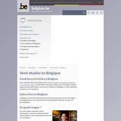 Venir étudier en Belgique