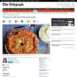 Venison pie with buttermilk mash recipe