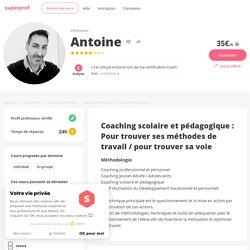 Antoine - Vénissieux,Rhône : Coaching scolaire et pédagogique : Pour trouver ses méthodes de travail / pour trouver sa voie