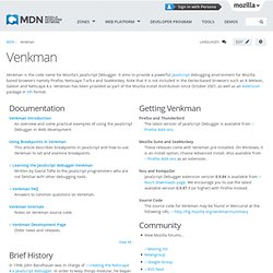 Venkman JavaScript Debugger project page