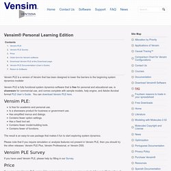 Vensim® Personal Learning Edition