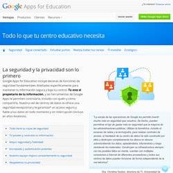 Enseñanza superior: Google Apps for Education