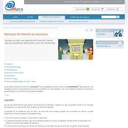 Ventajas de invertir en acciones - SVS Educa. Superintendencia de Valores y Seguros. Gobierno de Chile.