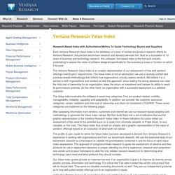 Ventana Research Value Index